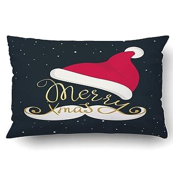 Amazon.com: emvency fundas de almohada Xmas diciembre feliz ...