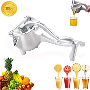 ALOVEWE Premium Stainless Steel Manual Juicer, Healthy Alloy Fruit Hand Squeezer, Easy Use Heavy Duty Lemon Orange Juicer Manual Fruit Press Squeezer Fruit Juicer Extractor Tool