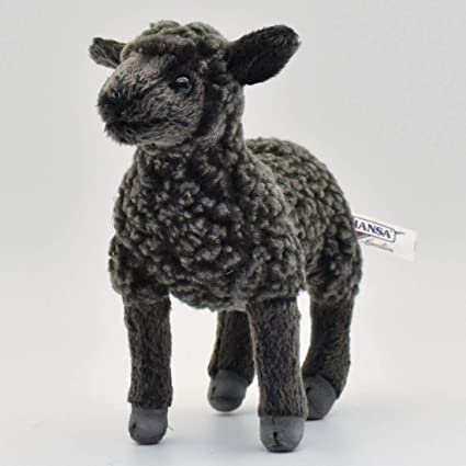 Amazon Com Hansa Little Lamb Plush 7 Black Toys Games