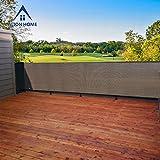 Alion Home Elegant Privacy Screen Windscreen Mesh For Backyard Deck, Patio, Balcony, Fence, Pool, Porch, Railing. (5' x 6', Mocha Brown)