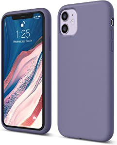 elago iPhone 11 Case |Lavender Grey| - Premium Liquid Silicone, Raised Lip (Screen & Camera Protection), 3 Layer Structure, Full Body Protection, Flexible Bottom