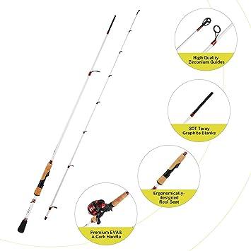 Magreel Bigshot Cañas de Pescar Spinning Casting Plegables 2 PCS ...