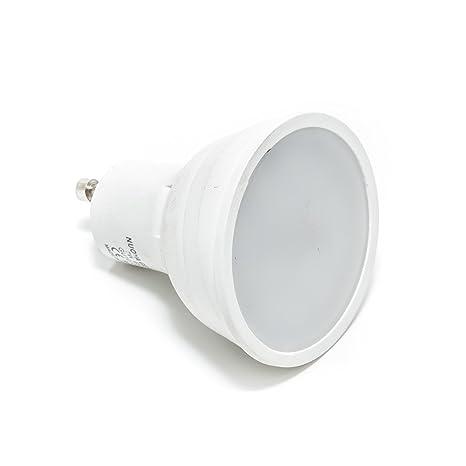 Lámpara con bombilla LED GU10, 5 W, foco de luz azul, ...