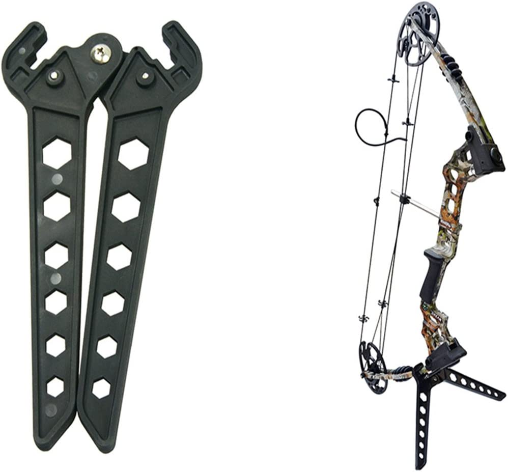 Black Bow Stand Universal Lightweight Archery Kickstand for Compound Bows