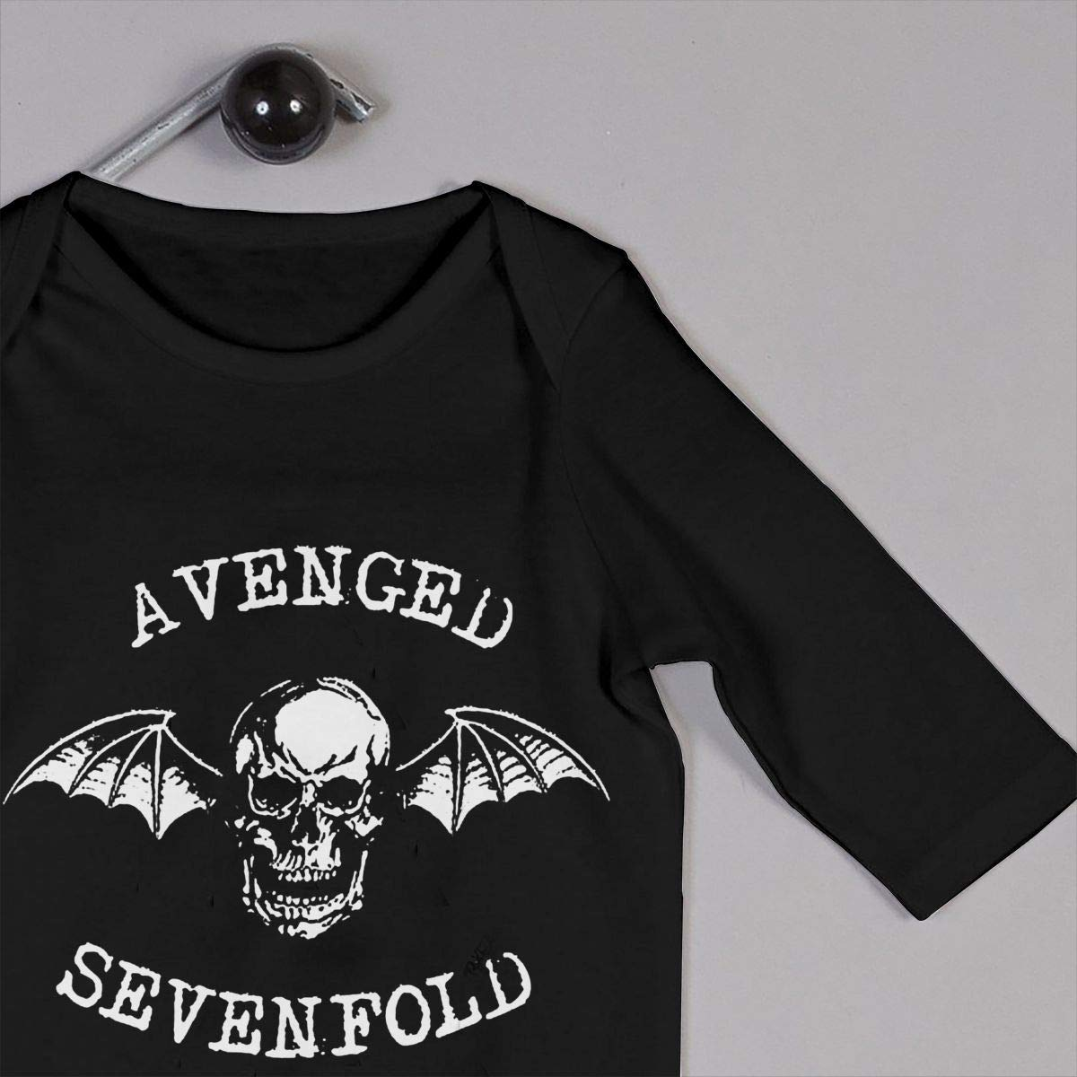 SOFIEYA Avenged Sevenfold Kids Baby Unisex Cotton Cute Long Sleeve Hooded Romper Jumpsuit Baby Crawler Clothes Black