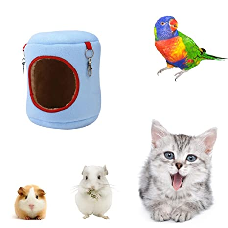 HKFV - Cama para mascotas, ropa de cama, hamaca de rata, ardilla, juguetes de invierno, caseta de hámster para colgar en casa, ideal para tu bonito hogar ...