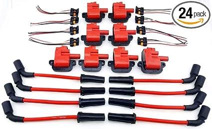 Amazon Com 97 05 Ignition Coil Kit Wires 350 5 7l 5 7 Gm Pontiac