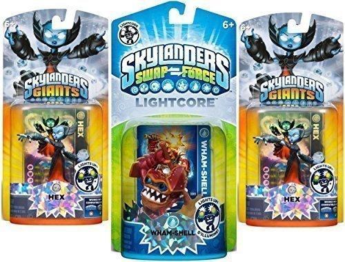 Skylanders SWAP Force: Lightcore Whamshell Character Plus 2 Bonus Characters