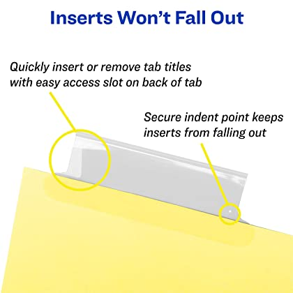 avery 11112 insertable big tab dividers 8 tab letter
