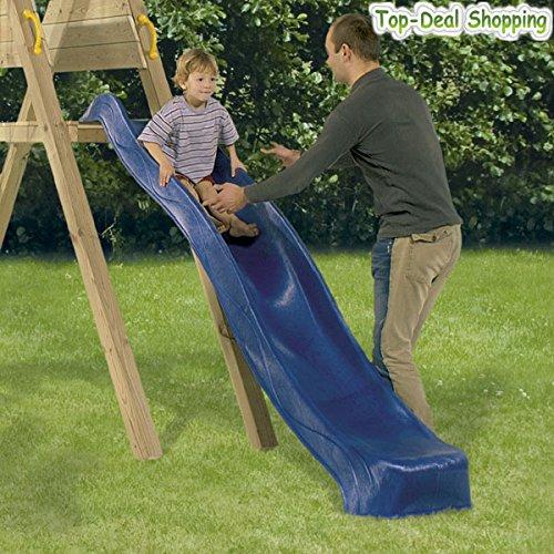 Toys4Kids Anbau - Rutsche ca. 2,30 m aus witterungsbeständigem Kunststoff, Blau