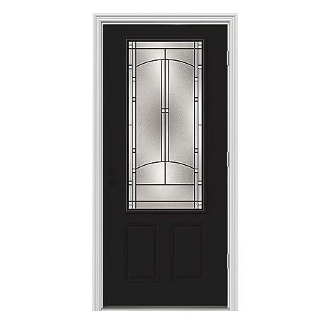 Idlewild 34 Lite Painted Steel Entry Door With Brickmould