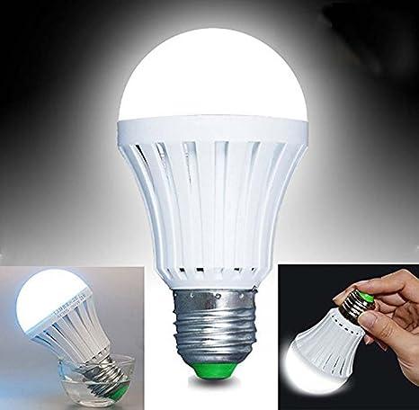 Batería de Emergencia Bombilla LED, dinowin E27 7 W blanco ahorro de energía LED Bombilla