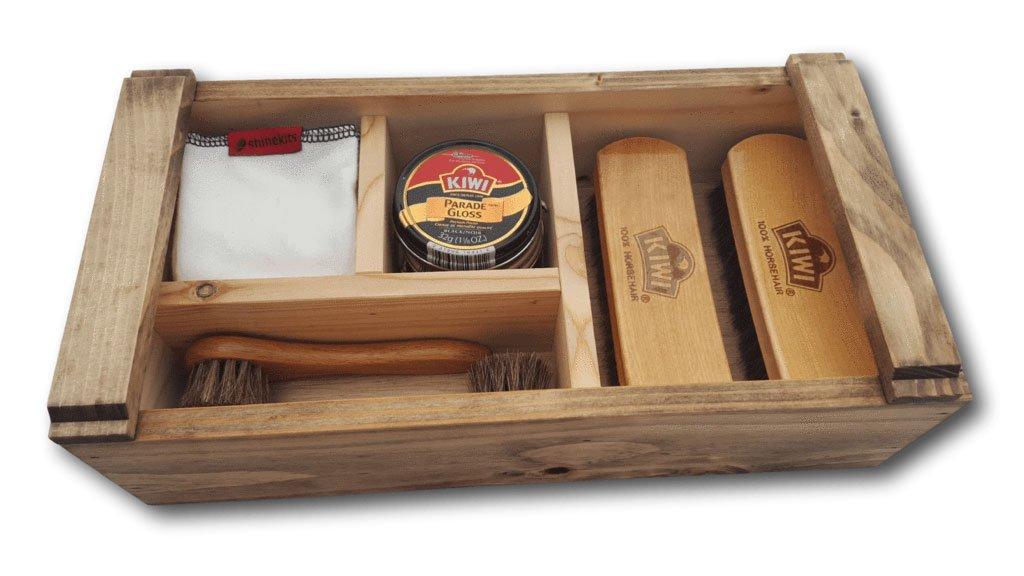 Shinekits Japanese Carpenter's Box Shoe Shine Kit (Honey)