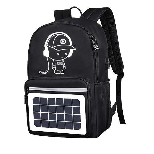 YGRSJ Mochila Solar para Exteriores, Cargador Solar, Bolsa de ...