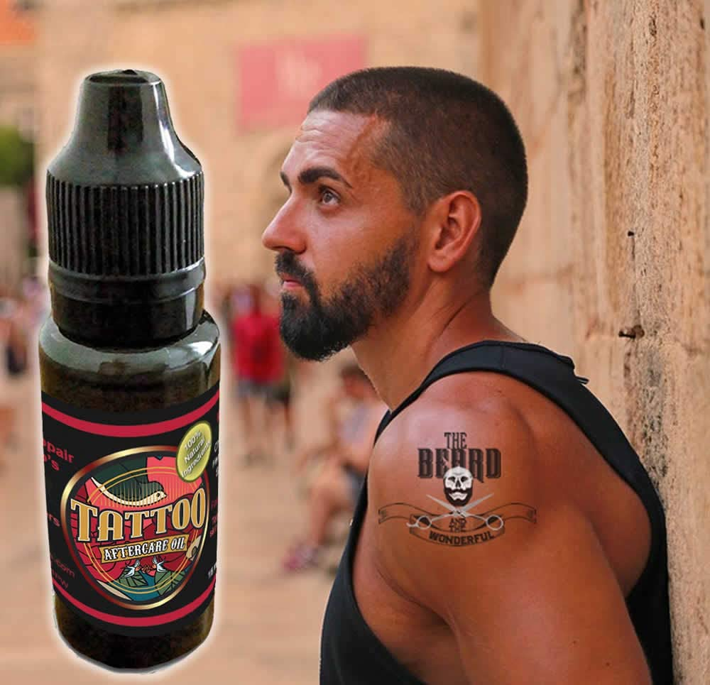 Aceite de tatuaje de cuidado posterior. Revitalizar, curar ...