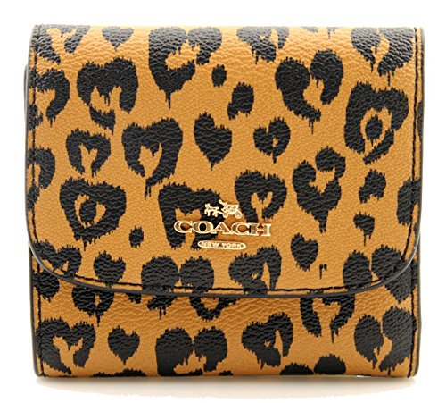 Full Bling Leopard Snap - COACH Small Wallet with Wild Heart Print
