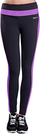 BALEAF Women's Yoga Active Ankle Legging Hidden Pocket Dewberry Size S