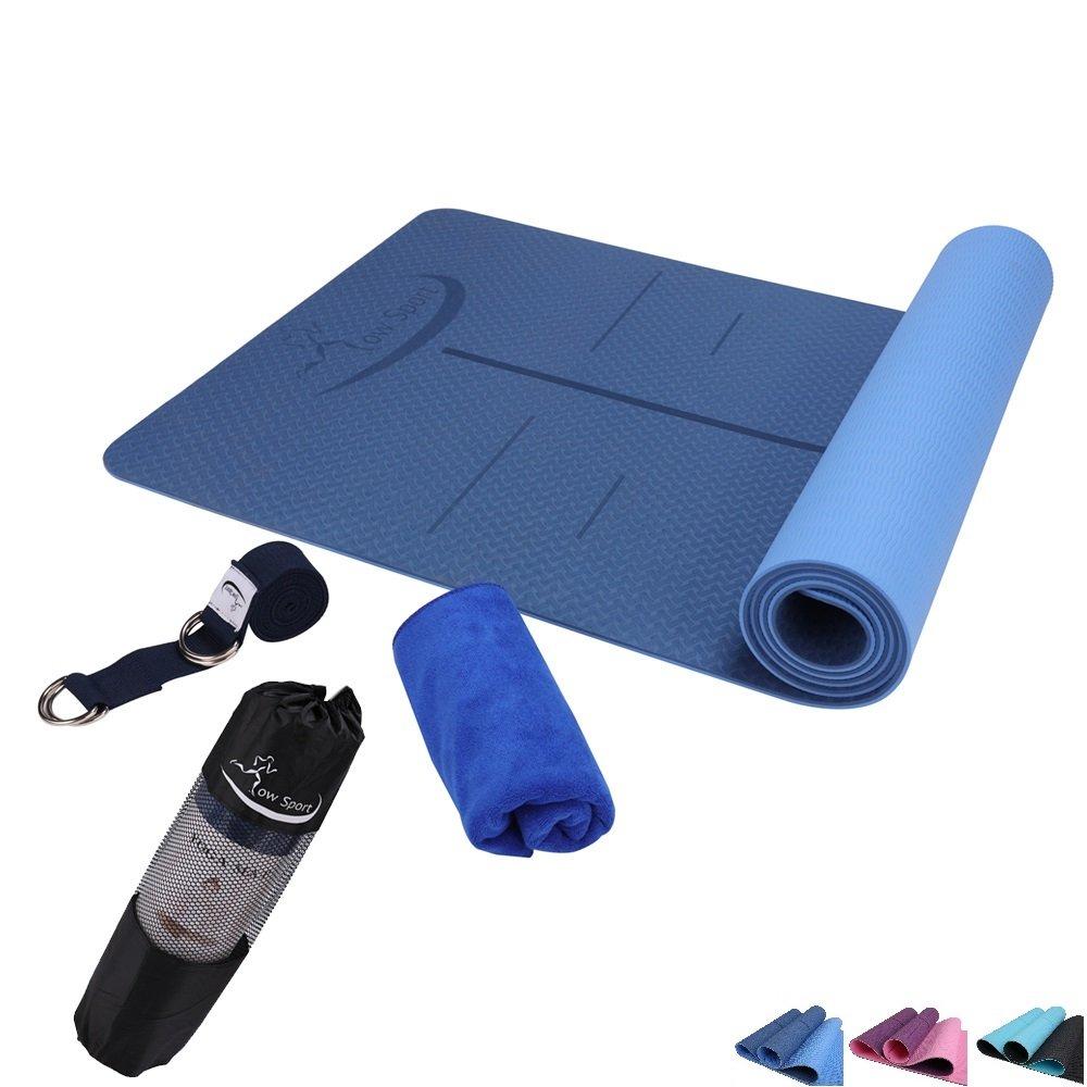 Hot Yoga Mat Set por bajo el deporte - antideslizante ...