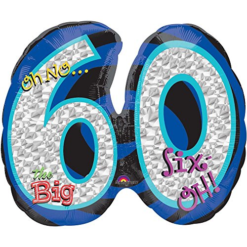 Oh No! 60Th Birthday Shaped Balloon - Party Supplies