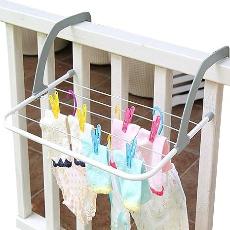 A.B Crew interior exterior puerta de doblar la ropa tendedero secador de lavandería Hanger Toalla Holder