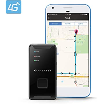 buy Amcrest 4G LTE GPS Tracker - Portable Mini Hidden Real-Time GPS Tracking Device for Vehicles