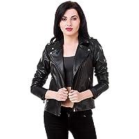 Leather Retail Women's Faux Leather Roadies Jacket