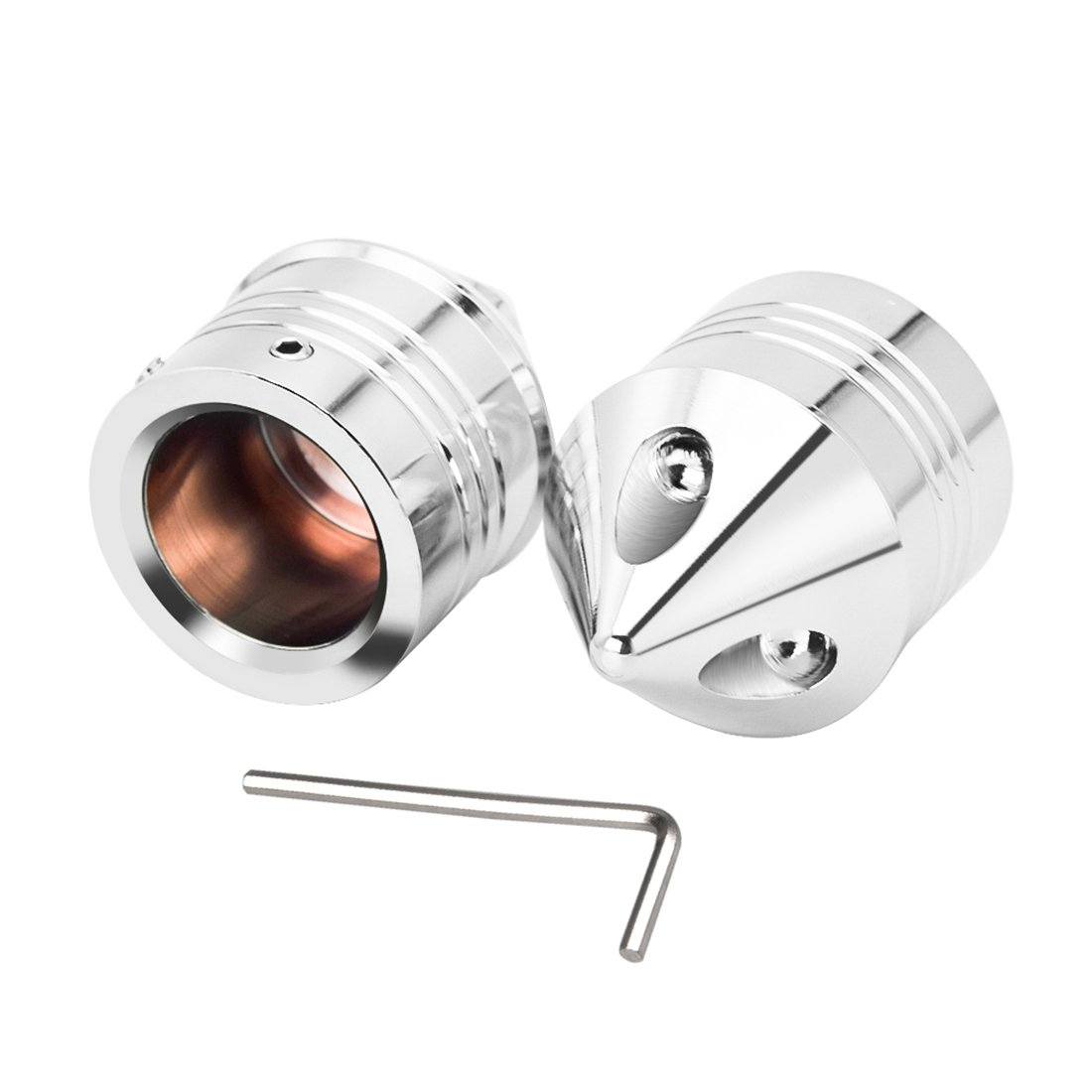 Clipsone Aluminum Axle Nut Cover Front Chrome for Harley Davidson