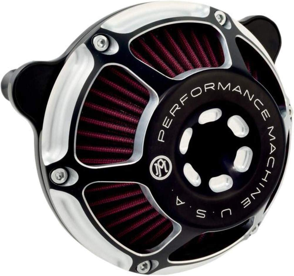 Performance Machine Max HP Contrast Cut Air Cleaner for HD 1993-2015 Twim Cam, Evolution models (exc. 2008-15 FLH)