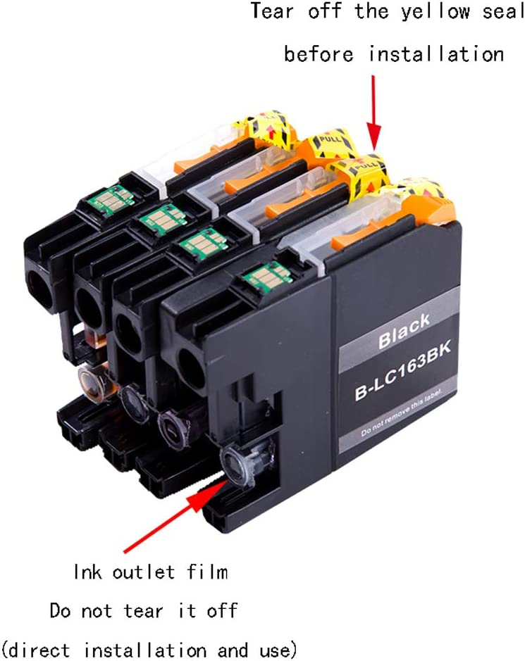 GYBN Eco-Friendly Large-Capacity Black Color Ink Cartridge with chip for Brother MFC-J470DW MFC-J650DW MFC-J480DW MFC-J680DW MFC-J562DW MFC-J880DW Printer cartridge-4-set