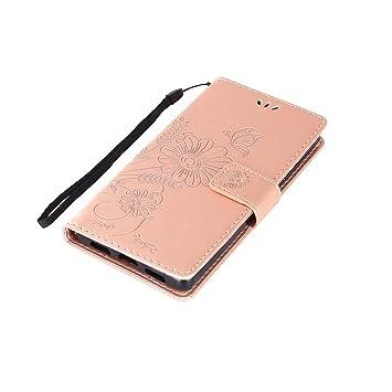 Funda Huawei P8 Lite, CaseLover Carcasa Libro Suave PU Cuero ...