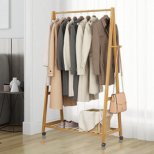 Amazon.com: Floor/Coat Rack, Bedroom/Hanging Clothes Hange/Simple Modern r/Solid Wood/Coat Rack,C: Home & Kitchen