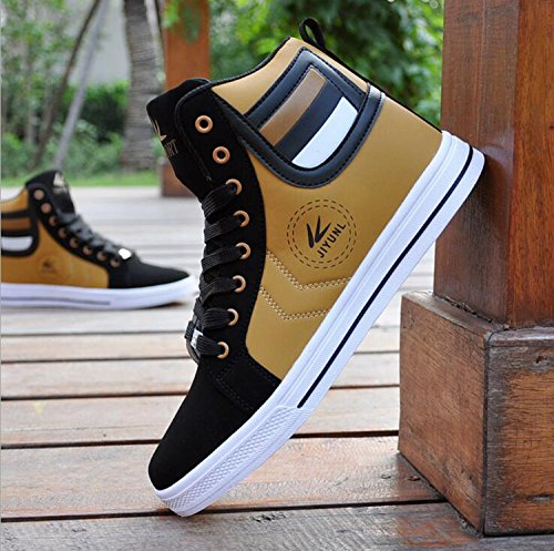 Gaorui Lot Fashion Hombres Casual Shoe High Top Deportivo Al Aire Libre Atlético Running Sneaker Bota Negro