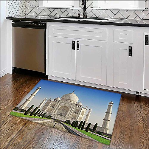 """Anti-Slip Thick Rug Mahal in sunrise light,Agra,India Comfort at Home, Office W39"""" x H20"""""""