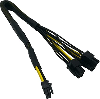 6+2 Male Power Adapter Cable for Corsair Modular Power Supply 24-inch+8-inch 62cm+21cm COMeap Replacement for ATX CPU 8 Pin Male to Dual PCIe 2X 8 Pin