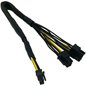 COMeap Mini 8 Pin to 8 Pin(6+2) 6 Pin PCIe Power Adapter Cable for Dell PowerEdge R540 R640 R740 R740XD Part Number TR5TP 17-inch(43cm)