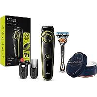 Braun BT3241 - Recortadora de Barba y Cortapelos para Hombre, Eléctrico + King C. Gillette Bálsamo para Barba con…