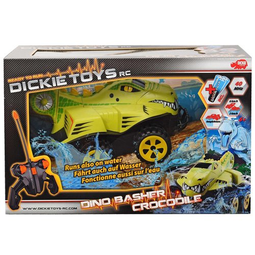 Dickie Toys - 201119088 - Radiocommandé -  Véhicule - Dino Basher - Crocodile RTR,avec contrôle blindé