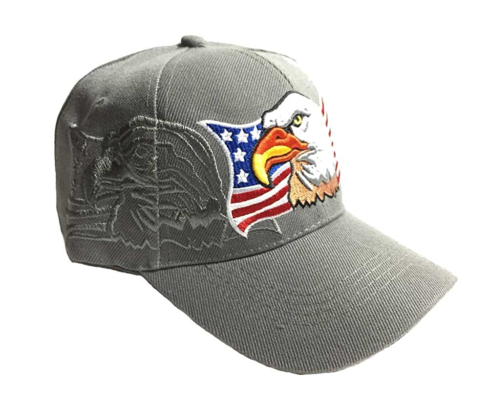 e815ad588962a Aesthetinc Patriotic USA American Eagle American Flag Baseball Cap ...