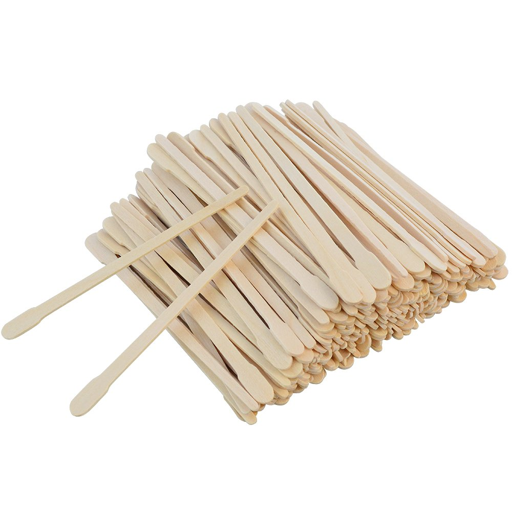 500 Pcs Wax Spatulas Sticks Bantoye Wax Applicator Wood Craft Sticks for Hair Eyebrow Removal