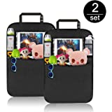 Car Back Seat Protector, Komake Waterproof Seat back Cover Organiser Auto Kick Mats With 4 Large Pocket Storage, Toys Tablet Holder For Children Kids Cartoon Movies Journey(2 pack)