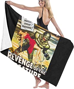 C-JOY Revenge of The Creature Movie Poster Bath Towel Five-Star Hotel Quality .Premium Collection Bathroom Towel.Soft,Plush and Highly Absorbent (1 Bath Towel 31x59 Inches)