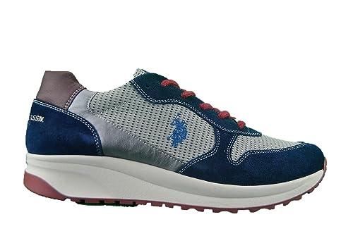 U.S.POLO ASSN. Hombre Zapatillas de Gimnasia Azul Size: 43: Amazon ...