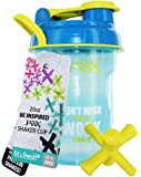 Fit & Fresh Jaxx Shaker Bottle, Leak-Proof Lid, Multiple Colors with Carry Handle (Don't Wish for it Work for it), 20 ounces