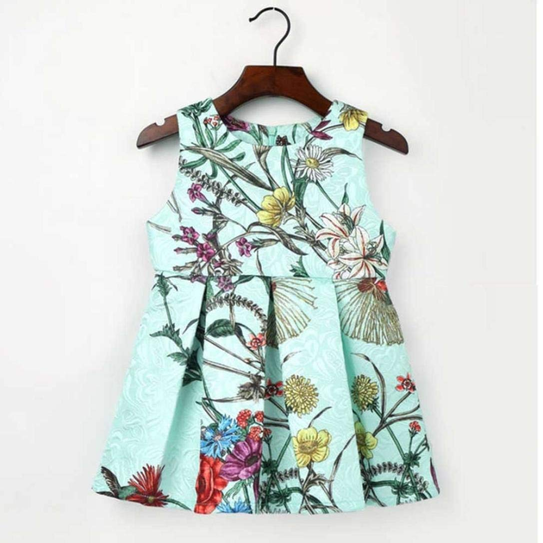 Goodtrade8 Toddler Baby Girl Sleeveless Flower Ruffle Lace Princess Tutu Dresses Outfit Clothes
