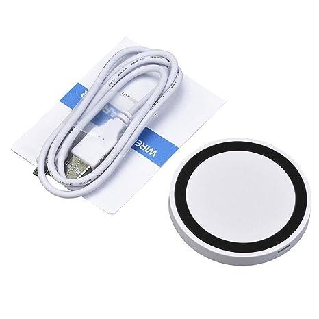 Nuevo Portátil Qi Wireless Power Cargador Rápido de Carga Pad para iPhone 8/8 Plus/X/Samsung Galaxy S8/S8 Plus/para Samsung Galaxy S7/S7 Edge (Negro)