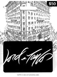Lord & Taylor White Gift Card