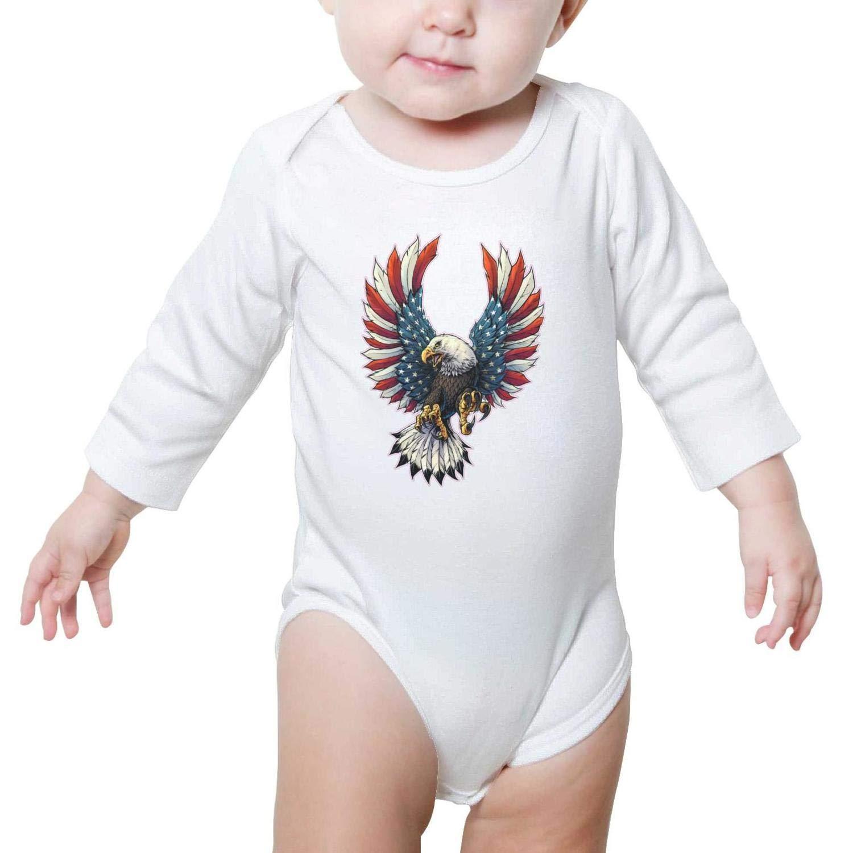 Bald Eagle American Flag 6 Baby Girls Beautiful Baby Bodysuit Onesies