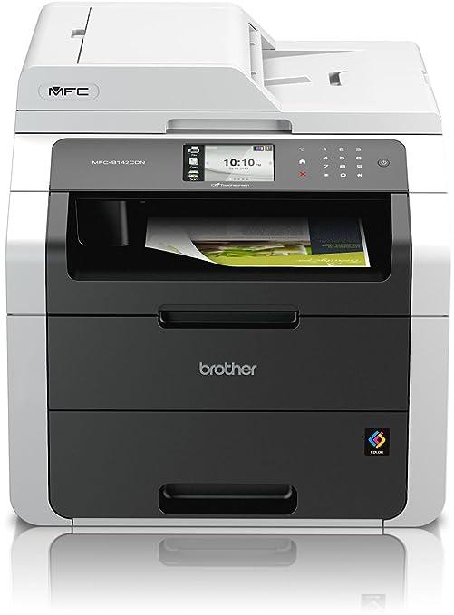 Brother MFC-9142CDN -Impresora láser multifunción (22 ppm, WiFi, 2400 x 1200 dpi, LED), Negro y Blanco