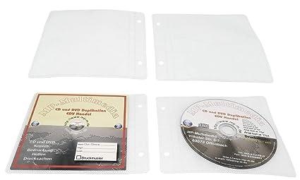 200 Booklet Cd Hüllen Zum Abheften Stabile Cd Amazon De