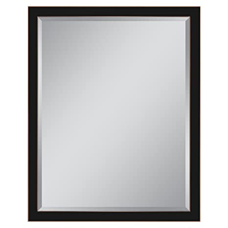 Head West 30 X 40 Classic Oil Rubbed Bronze 1 5 In Wide Metal Frame Wall Mirror